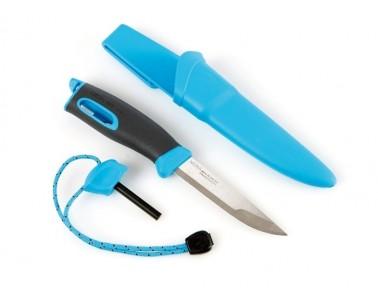 Faca ignição Light My Fire azul ciano FireKnife