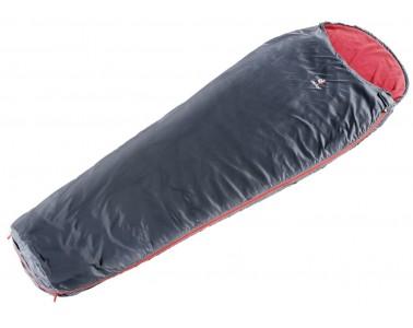 Saco de dormir quente Deuter Two Face cranberry preto